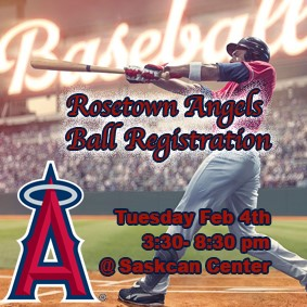Rosetown Angels 2020 Ball Registration