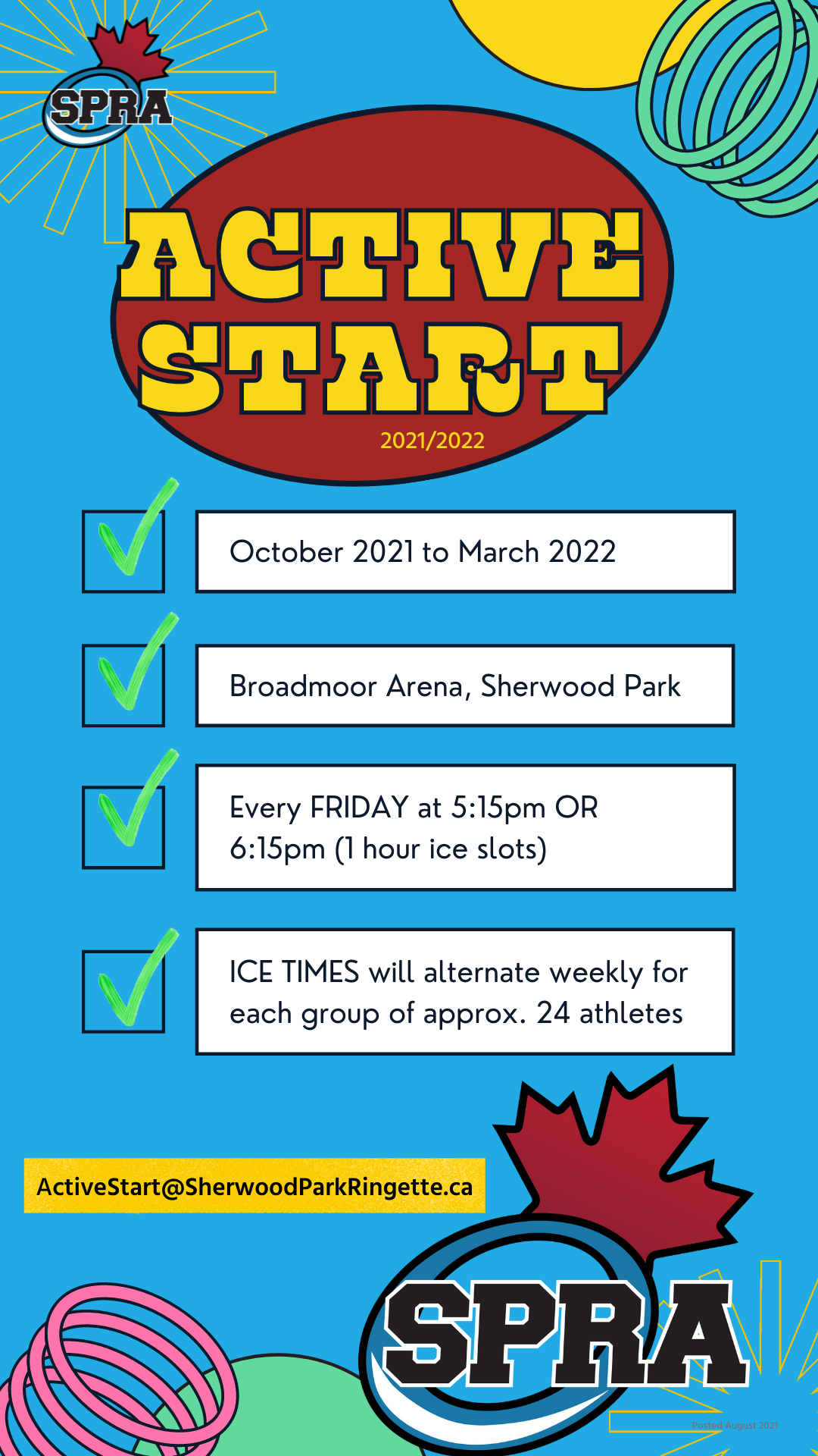 Active Start Dates October 2021-March 2022