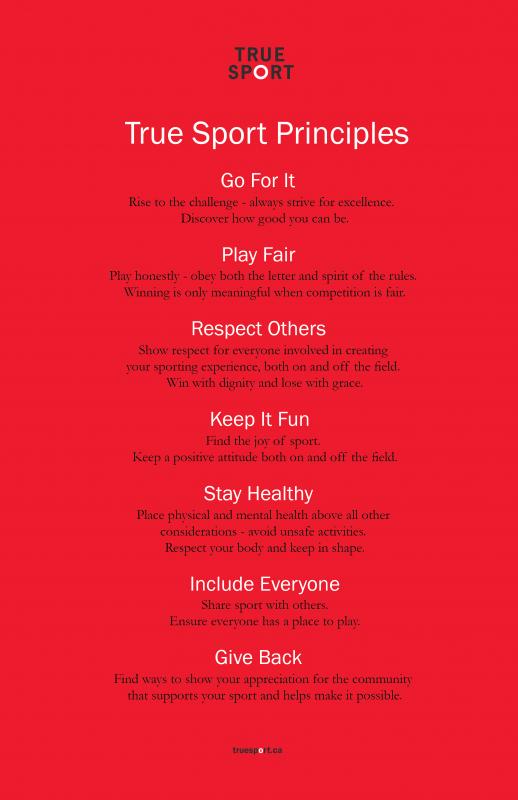 True Sport Principles