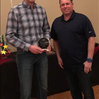 2018 EYBA Bantam Boys Coach of the Year - SBA's Andre Schakel (right) w/ EYBA President, Jay Ouellette