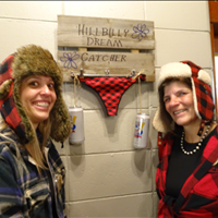 Jessica Riley and Vicky Tardif of Roseland with the Hillbilly Dream Catcher
