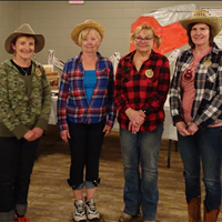 Linda Patkau, Carol Quinn, Joann Julien and Anne Dick of Sun Parlour Curling Club