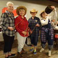 Sharon Bee, Liz Jackson, Joan Kettle and Gerri Scott from Sun Parlour Curling Club