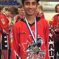 Harjun Dhaliwal - U15 Gold Medalist