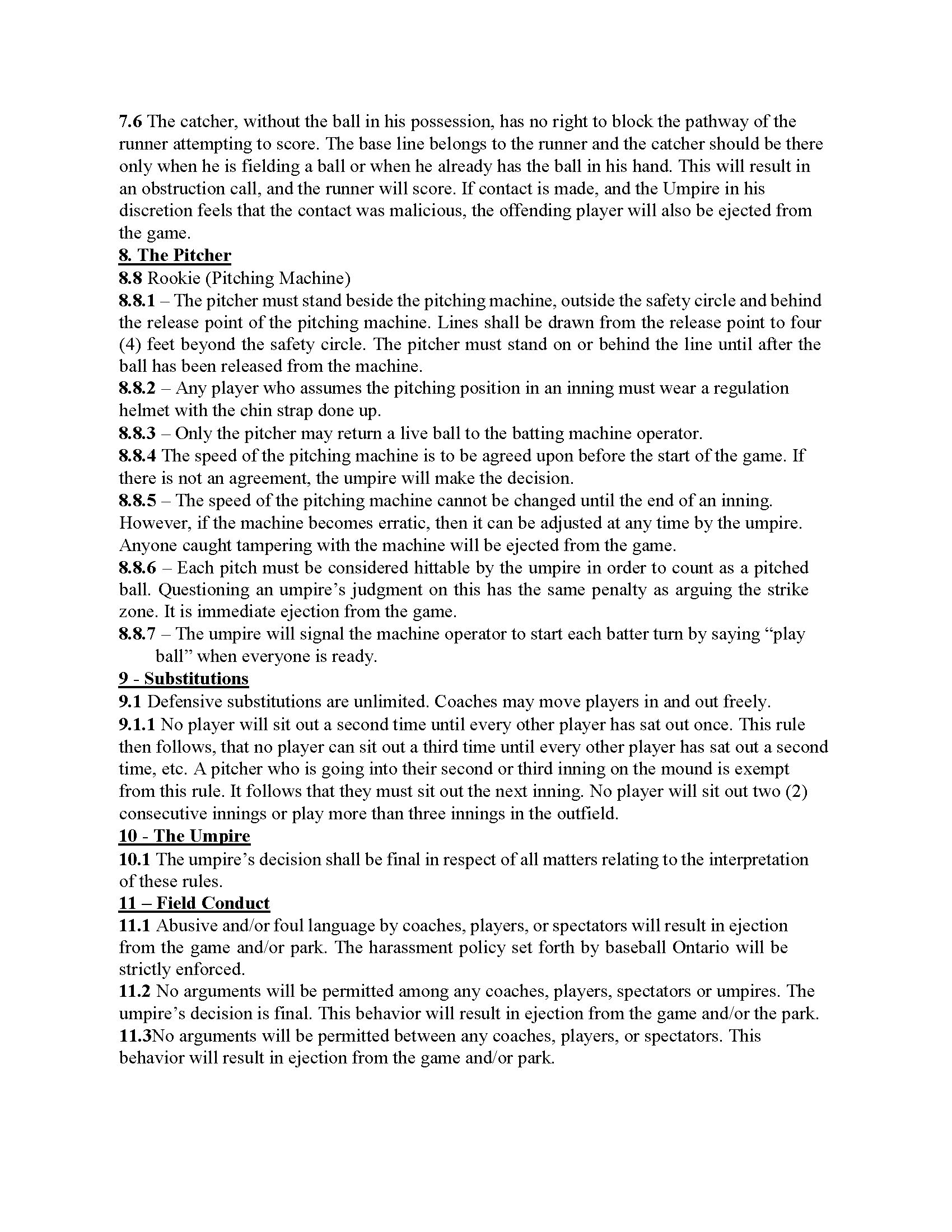 Sr. Rookie Rules 5