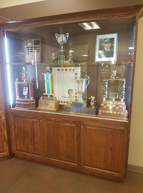 In Conjunction With The Town Of Westlock We Hired Local Cabinet Maker Bob Beattie To Build Our Long Awaited Trophy Now These Standing Awards