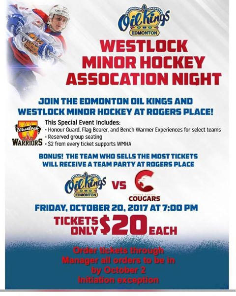 Westlock Warriors Association Night