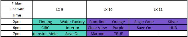 Friday LX9 - LX11